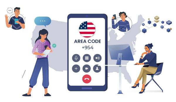 954 Area Code for Business - Callhippo