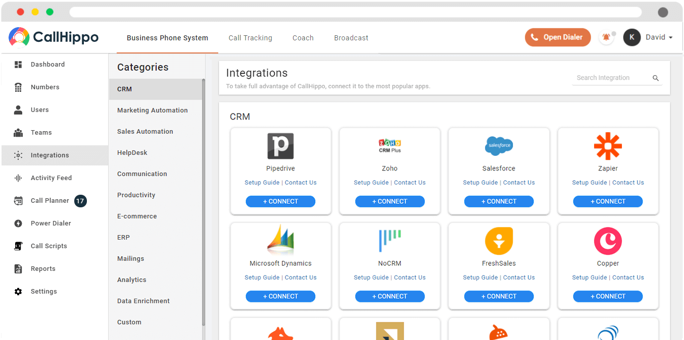 CallHippo Integrations